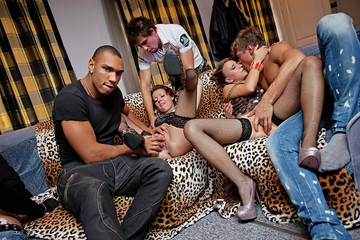 Totally insane group orgy movie