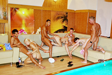 Theme sex party in Hawaiian style, part 4
