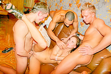 Hot wild girls fuck on a corporate party