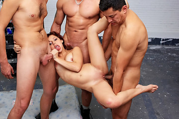Hot group hardcore sex video with a slutty GF