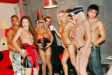 Sexy students celebrate Halloween, part 4