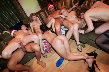 Wild New Year college orgy, part 4